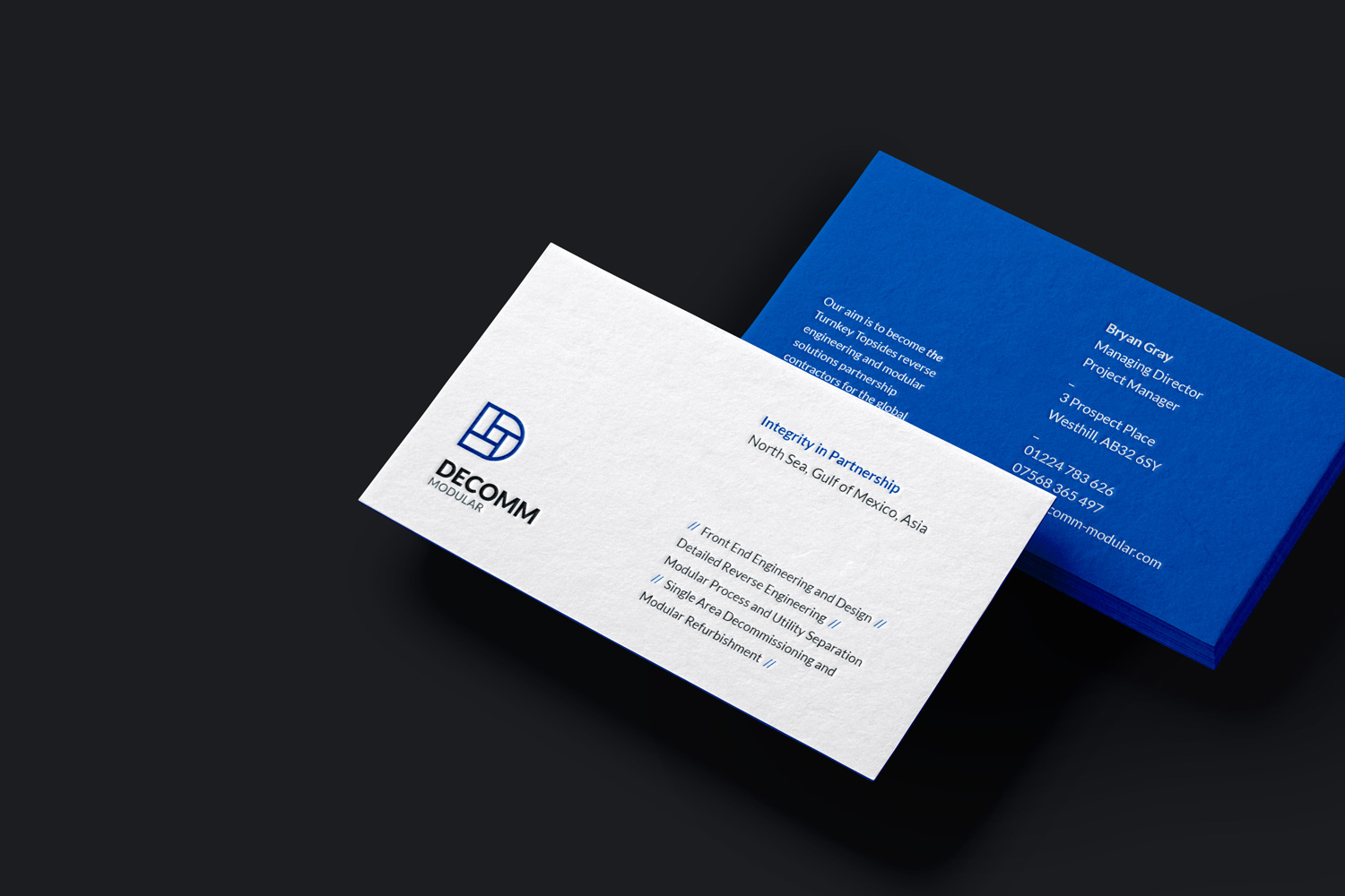Decomm Modular Business cards