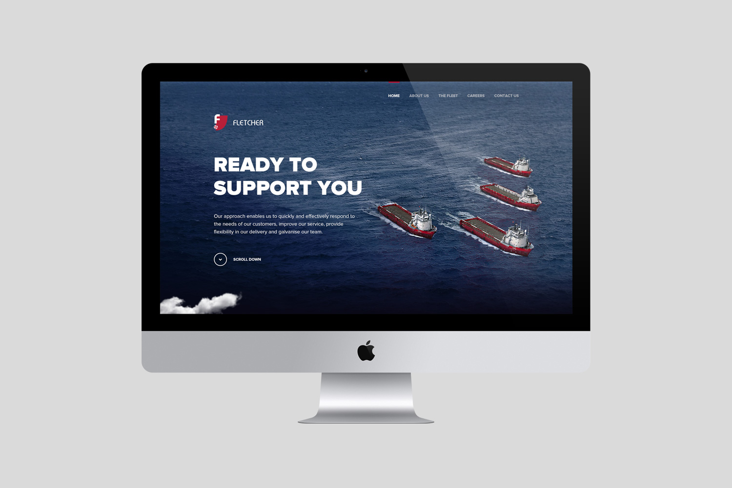 Fletcher Shipping Website Homepage